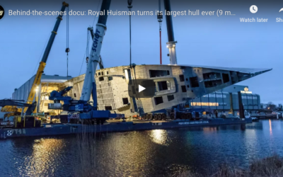 Behind-the-scenes docu: Royal Huisman turns its largest hull ever