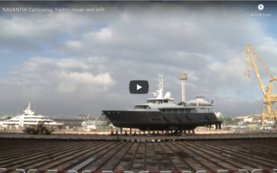 Navantia Repair Shipyard in Cartagena